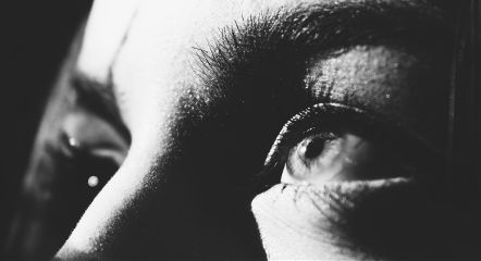eyes girl closeup blackandwhite face