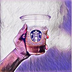 starbucks coffee blue art white freetoedit