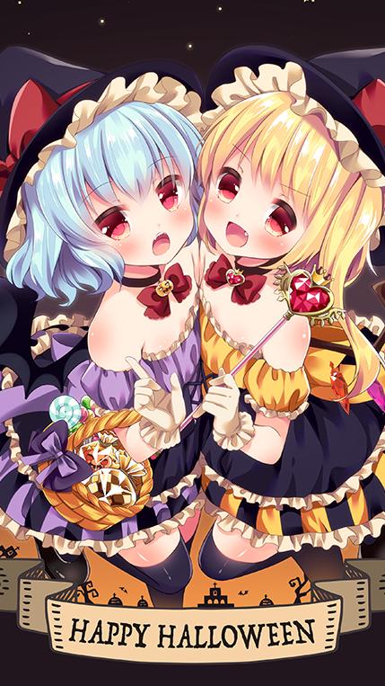 happy halloween animegirl flandre scarlet remilia sca