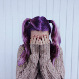 FreeToEdit hair haircolor hairstyle pink drawing my drawingart purple purple