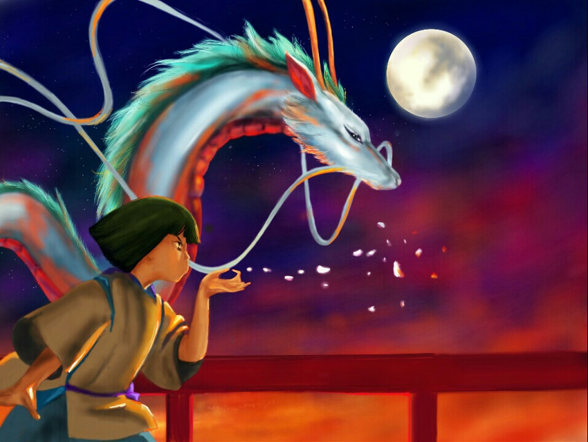 Spirited Away   #colorful  #colorsplash  #emotions  #cute  #flower  #nature  #surreal  #drawing  #art  #painting  #magical  #colour  #night