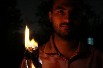 freetoedit portrait fire lightanddark