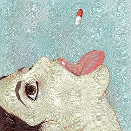 freetoedit artistic girl sketched pills
